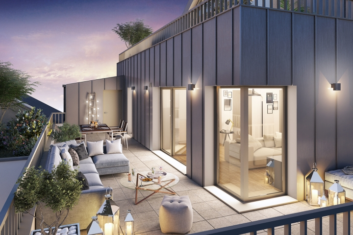 Terrasse Programme Neuf Qualytim Préférence BSR Immobilier Nantes